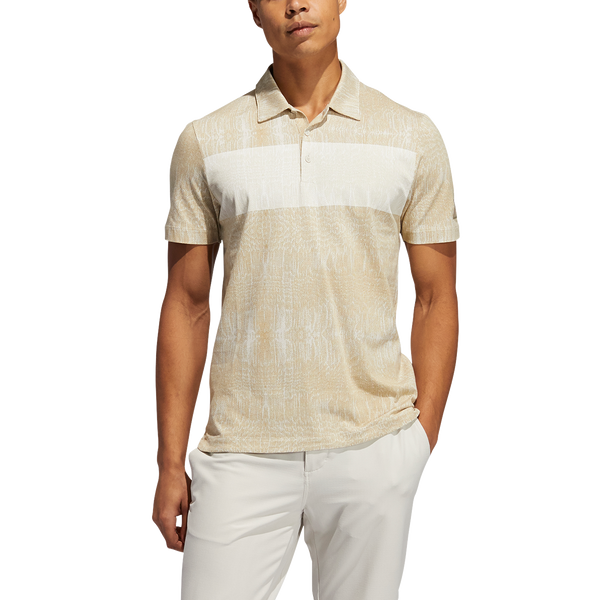 alumina 'Desert Print' Golf Polo Shirt - Adicross / MEN
