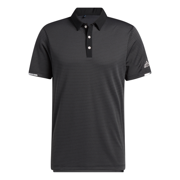 Black 'HEAT.RDY MICROSTRIPE' GOLF POLO SHIRT - MEN