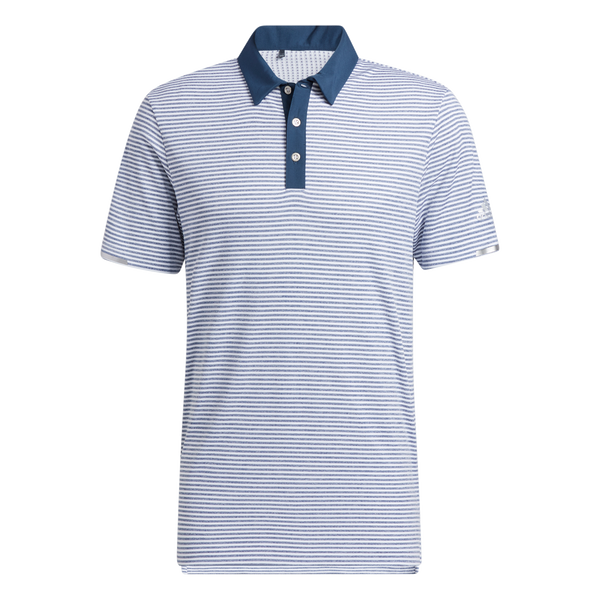 Navy 'HEAT.RDY MICROSTRIPE' GOLF POLO SHIRT - MEN