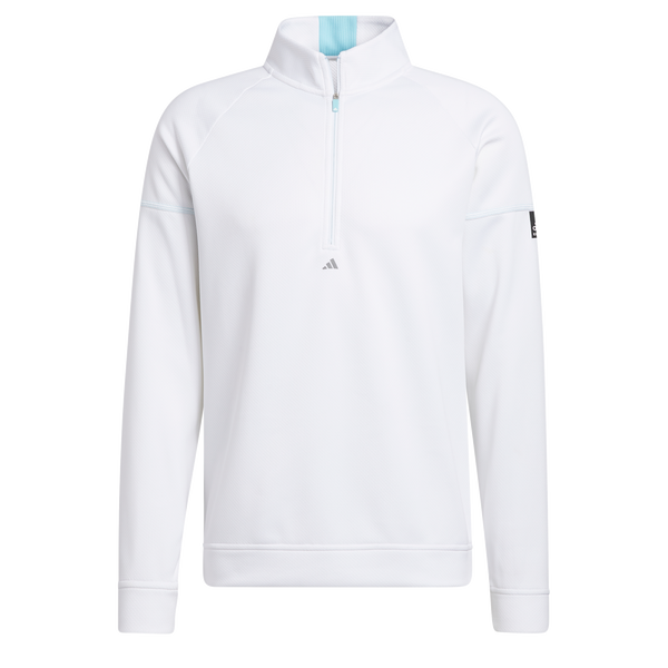 White 'EQUIPMENT' 1/4 ZIP GOLF SWEATSHIRT - MEN