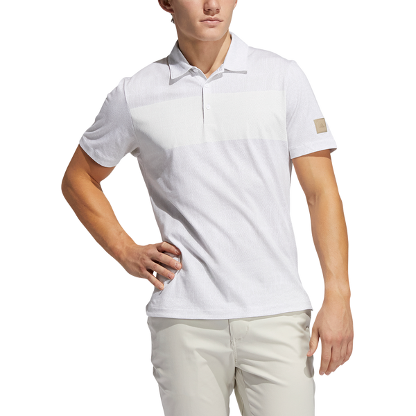 White 'Desert Print' Golf Polo Shirt - Adicross / MEN