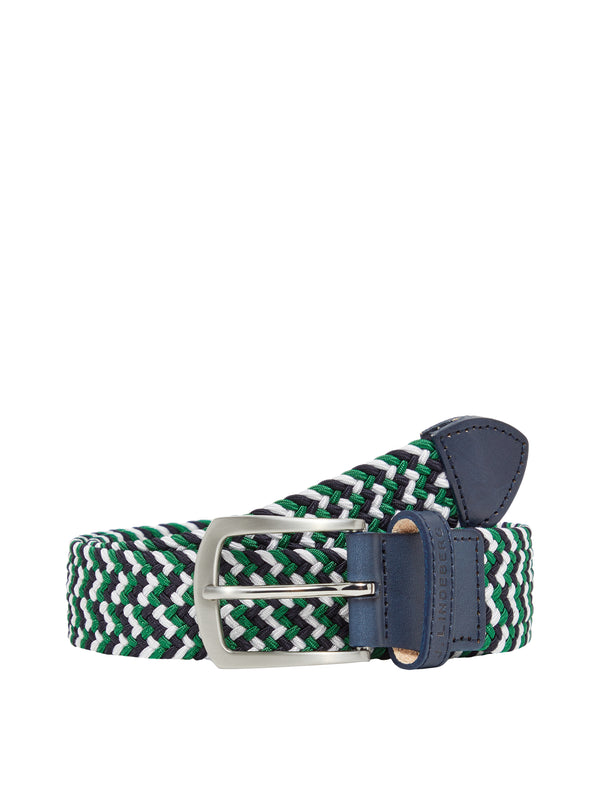 White Hatcher-Elastic Triple Golf Belt - MEN'S / AW19