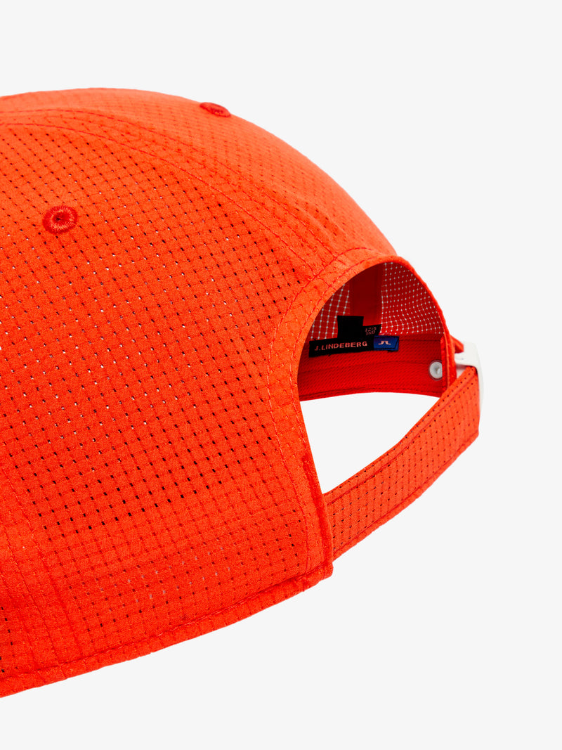 Tomato Red 'Caden' Golf Cap with Technical Mesh - MEN / SS20
