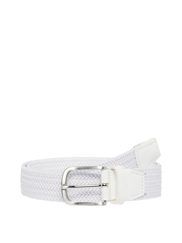 WHITE 'Bernhard' Braided Elastic Belt - MEN / SS20