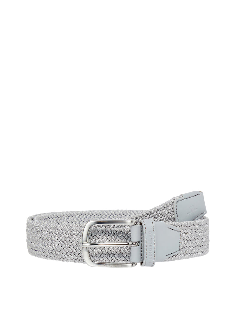 Stone Grey 'Bernhard' Braided Elastic Belt - MEN / SS20
