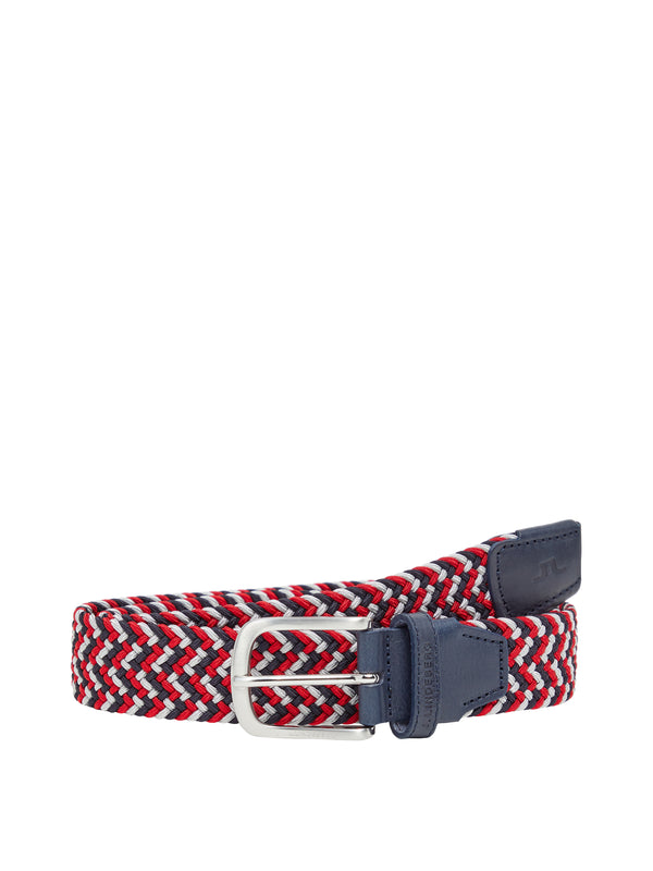 Racing Red 'Bubba' Braided Elastic Belt - MEN / SS20
