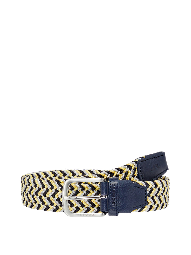 Still Yellow 'Bubba' Braided Elastic Belt - MEN