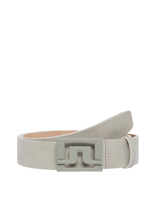 Stone Grey 'Slater' 40 Brushed Leather Belt - MEN / SS20