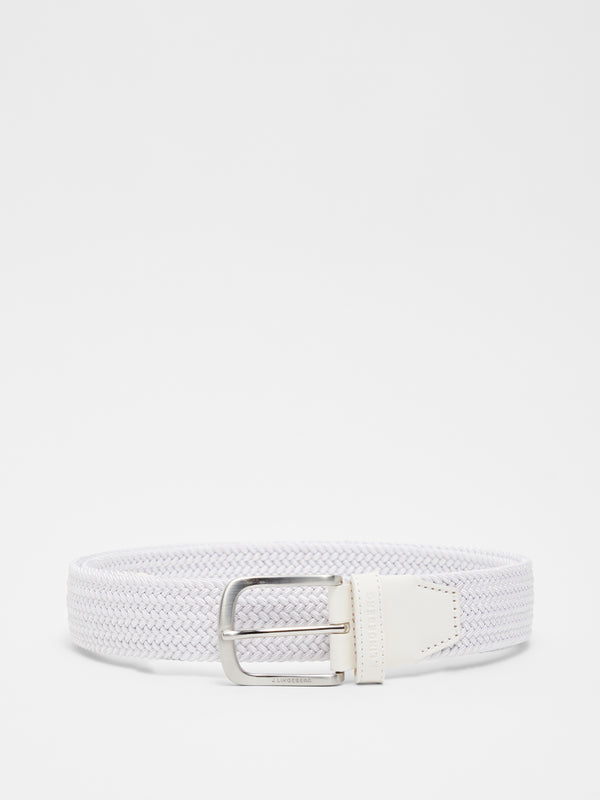 White 'Bernhard' Braided Golf Belt - MEN / AW20