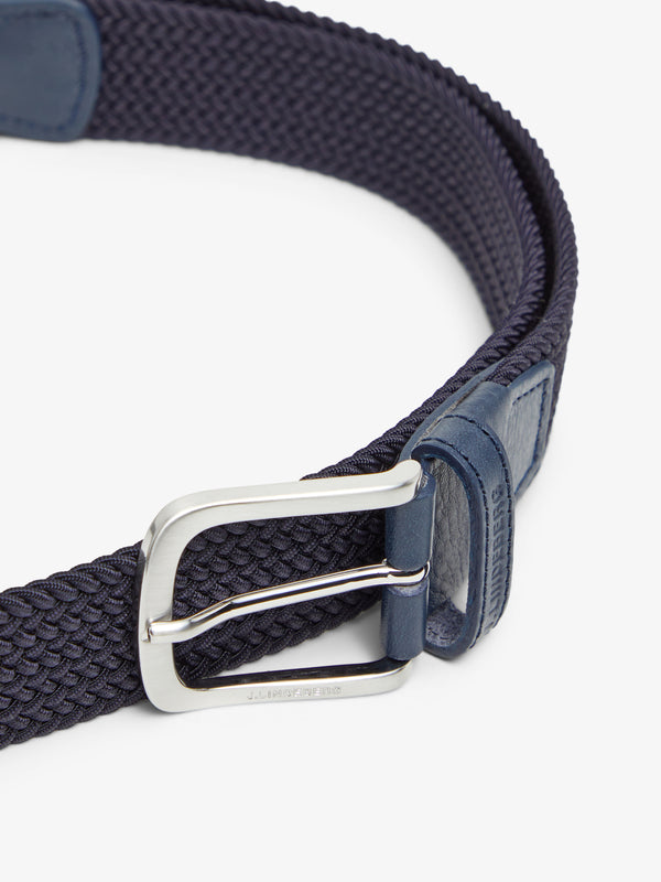 Navy 'Bernhard' Braided Golf Belt - MEN / AW20