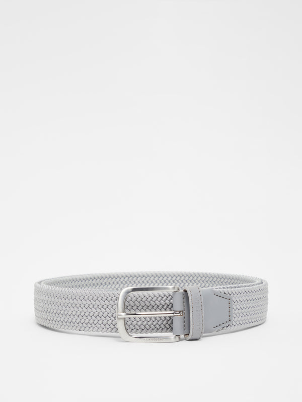 Grey 'Bernhard' Braided Golf Belt - MEN / AW20