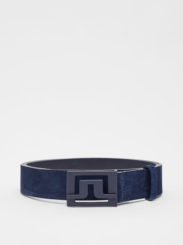 Navy 'Slater' Leather Golf Belt - MEN / AW20