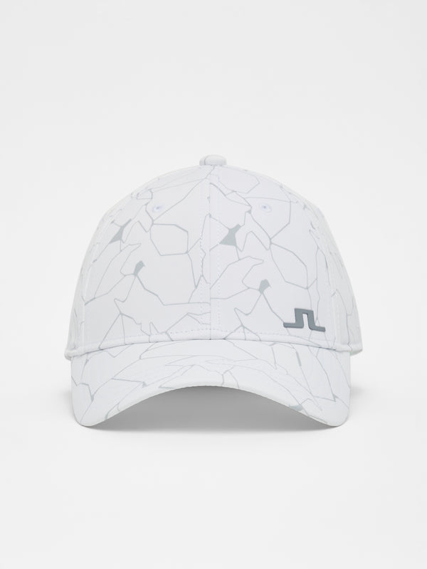 WHITE PRINT 'Ludvig' Golf Cap - MEN