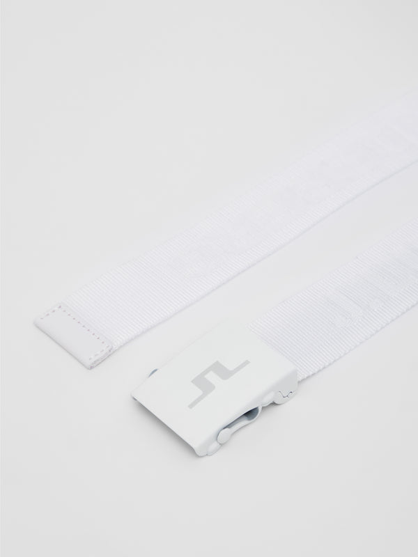 White 'Bernt' Golf Belt - MEN / 2021