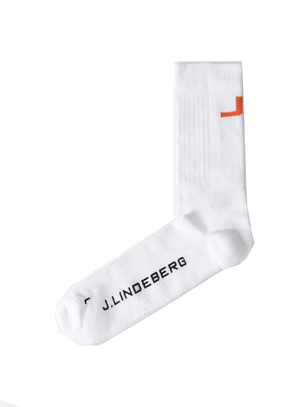White 'Rolfi' Golf Sock - MEN / 2021