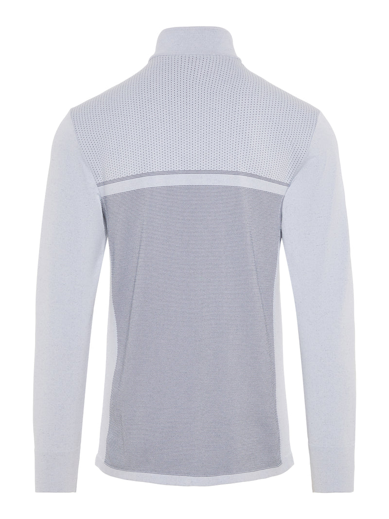 Stone Grey 'Jo' 1/4 Zip-Seamless Golf  Mid Layer - MEN / SS20