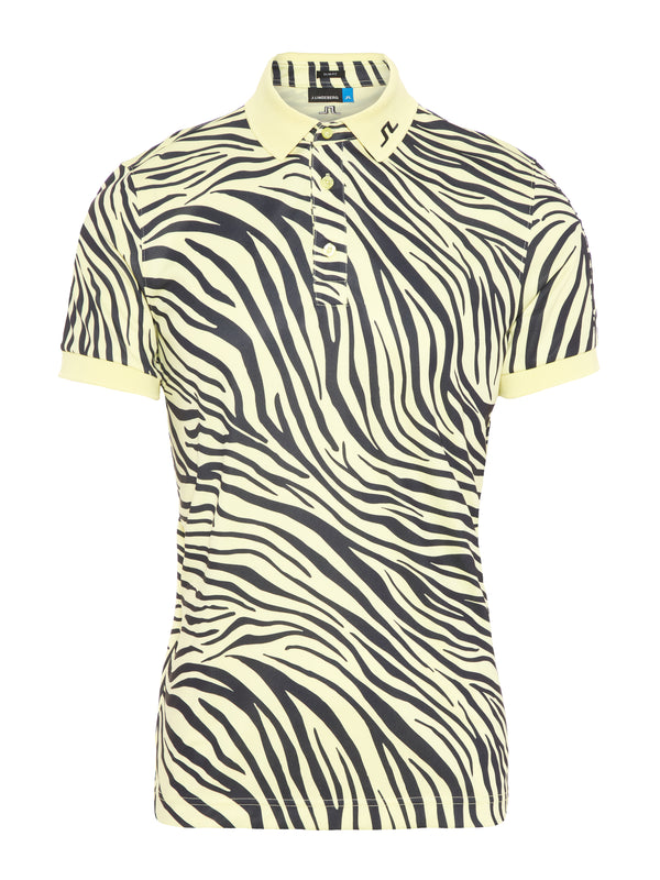 YELLOW  'Tour Tech' ZEBRA  Print Slim Fit TX JERSEY GOLF POLO - MEN / SS20