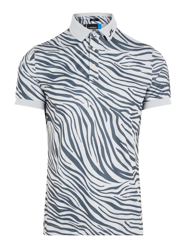 GREY  'Tour Tech' ZEBRA  Print Slim Fit TX JERSEY GOLF POLO - MEN / SS20