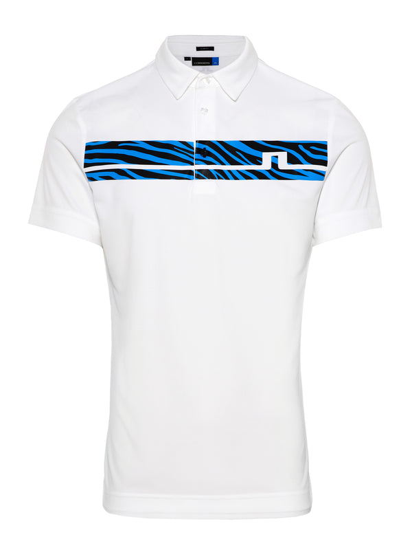 WHITE 'Clark' Print golf shirt - MEN / SS20