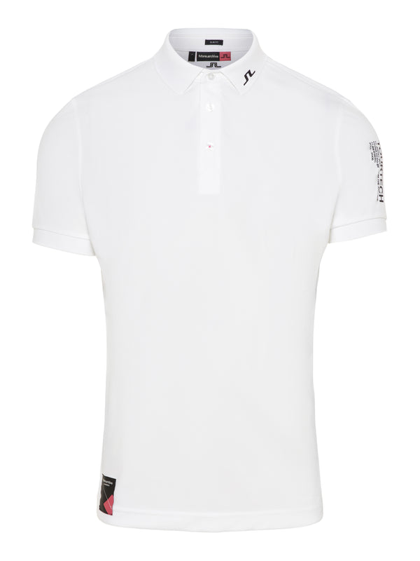 WHITE 'TOURTECH' ARCHIVED GOLF POLO SHIRT - MEN / SS20