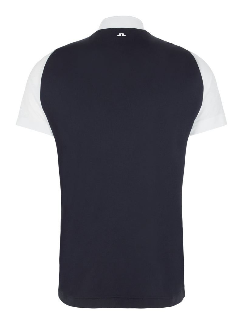 NAVY 'Benga' Collarless Golf Polo Shirt - MEN / AW20