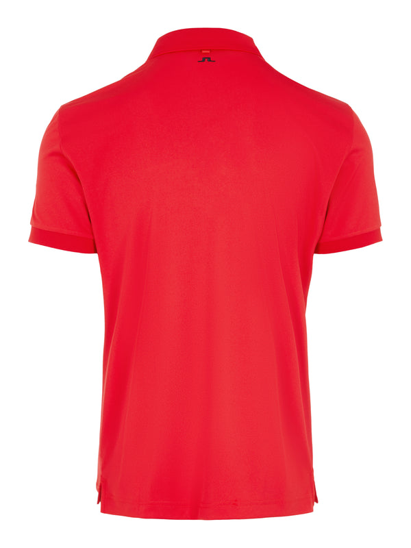 Red 'Tour Tech'  Slim Fit Golf Polo Shirt - MEN / AW20