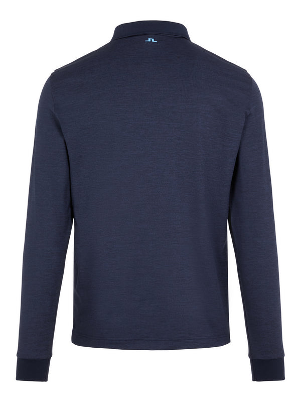 NAVY 'Bridge' Long Sleeve Golf Polo Shirt - MEN / AW20