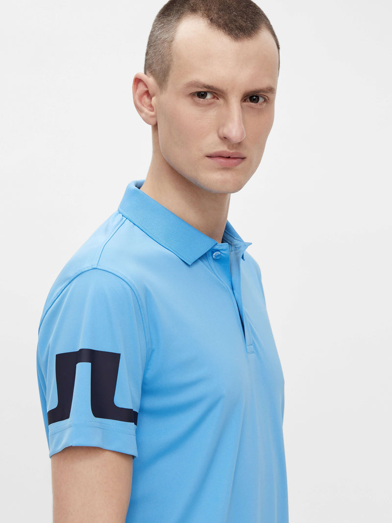Blue 'Heath' Regular Fit Golf Polo Shirt - MEN
