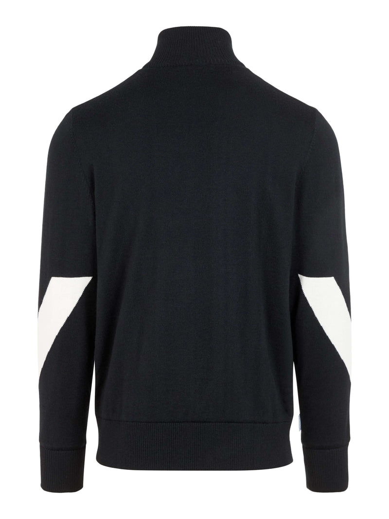 Black Gen 1/4 Zip Wool Coolmax pullover -  Men's / AW19