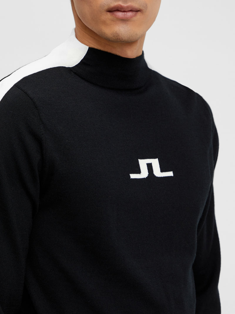 White 'Ruben' Turtle Neck Golf Sweater - MEN / AW20