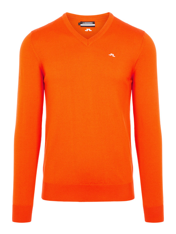 Lava Orange 'Lymann' Tour V-neck Merino Jumper - MEN / 2021