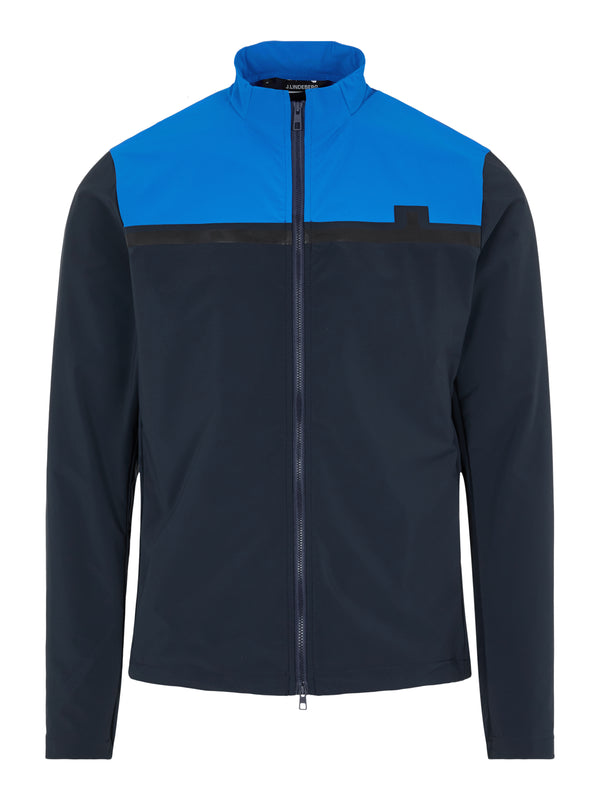 Navy 'Blocked Logo' Water repellent Golf Jacket Lightweight - MEN / SS21
