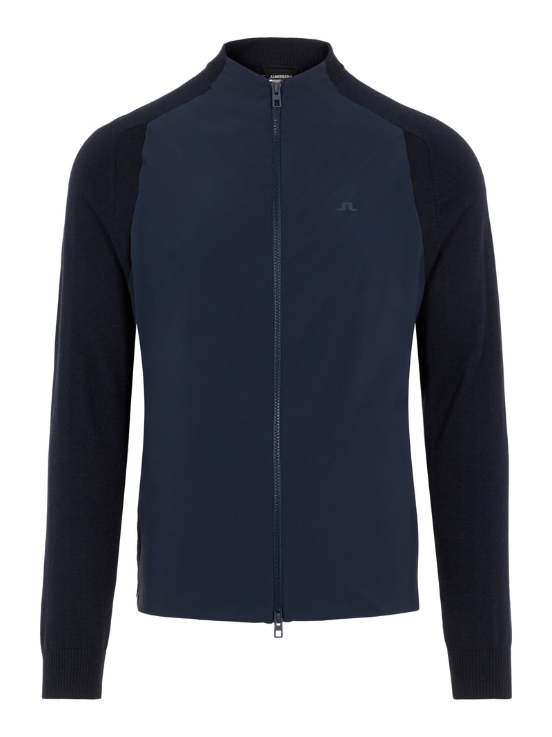 NAVY 'Knit Hybrid' Collarless Golf Jacket - MEN / AW20