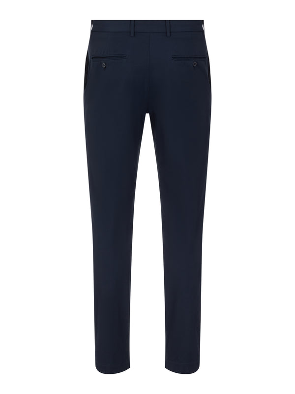 Navy 'Axil' Winter thermal/Fleece Twill Golf Trousers - MEN / AW20