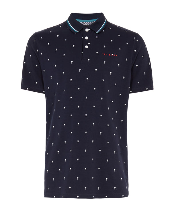 NAVY 'GRASS' golf polo shirt - MEN / SS20