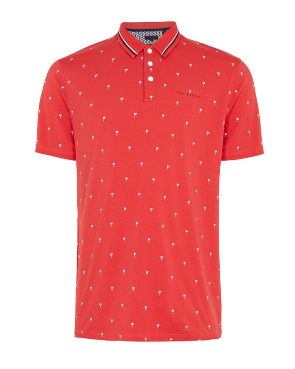 RED 'GRASS' golf polo shirt - MEN / SS20