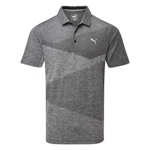 GREY 'Alterknit' Jacquard Golf Polo -  MEN / SS20