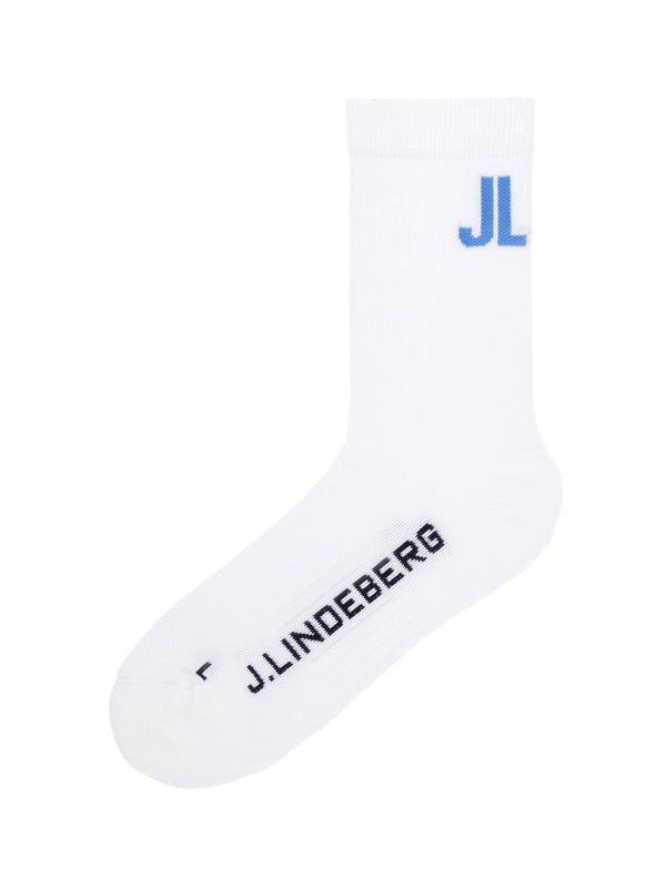White 'Ronja' Golf Sock - MEN / AW20