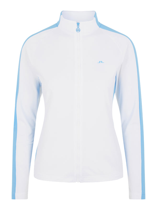 White 'Marie' Full Zip Golf Mid Layer - WOMEN / AW20