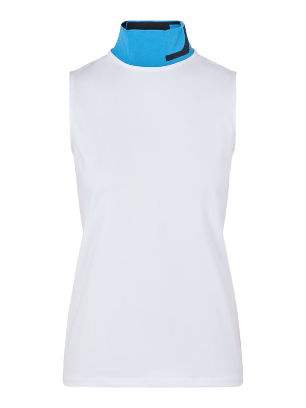 White 'Lou' Sleeveless Golf Polo Shirt - AW20 / WOMEN