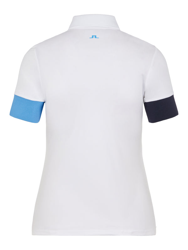 White 'Yasmin' Golf Polo Shirt - WOMEN / AW20