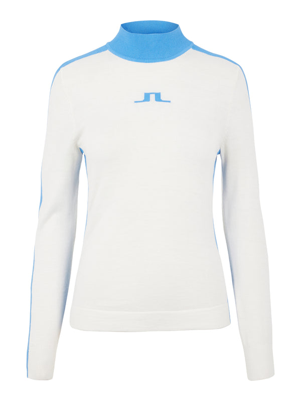White 'Adia' Turtle Neck Golf Sweater - WOMEN / AW20