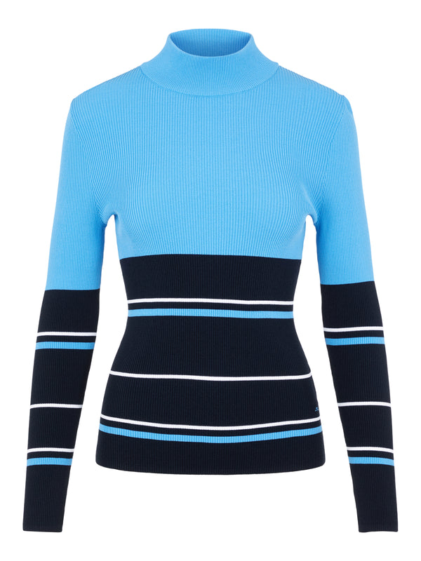 NAVY 'Berthe' Striped Golf Sweater - WOMEN / AW20