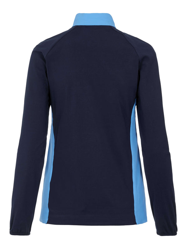 Blue 'Liv' Padded Hybrid Golf Jacket - WOMEN / AW20