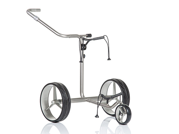 LIGHTWEIGHT 'Junior' STAINLESS STEEL 3-WHEEL ELECTRIC TROLLEY - CUSTOM / BESPOKE