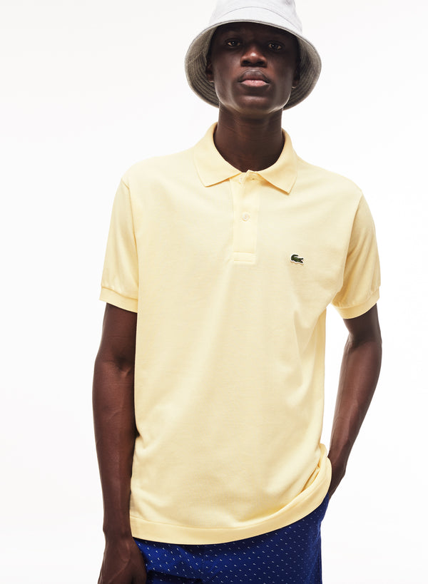 NAPOLITAN YELLOW TECHNICAL 'L.12.12' GOLF POLO SHIRT - MEN / SS19