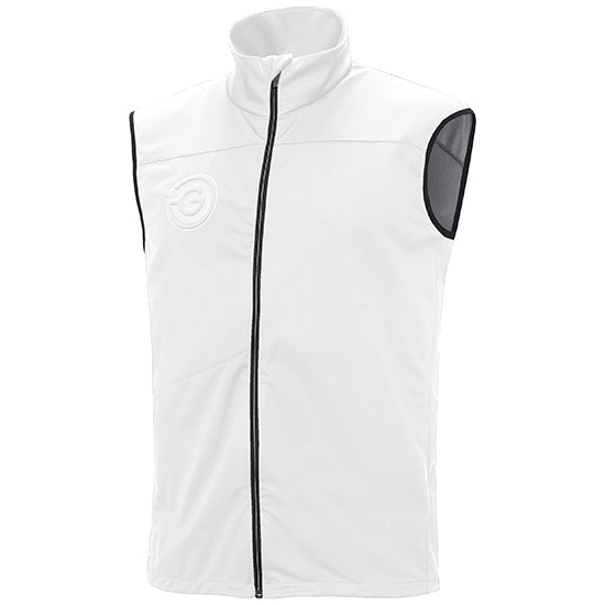 WHITE 'LAZER' BodywarmeR VEST - MEN / OUTLET