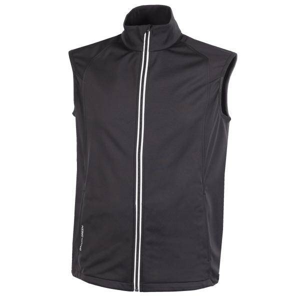BLACK 'LIONEL' GOLF VEST - MEN / AW20
