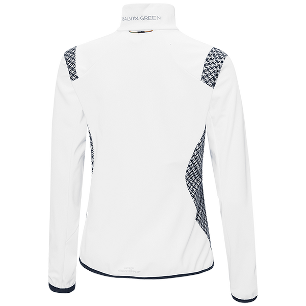 WHITE 'LISETTE' WINDPROOF GOLF JACKET - WOMEN / OUTET