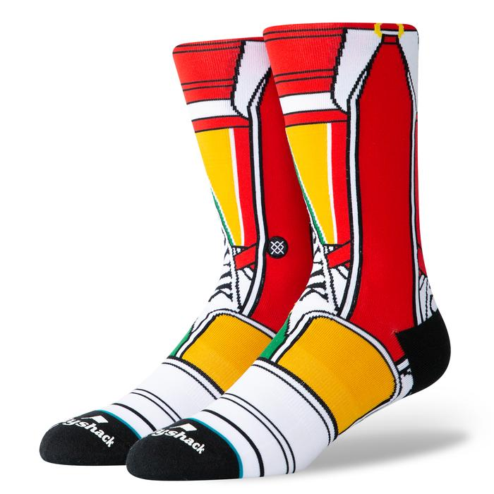 Red 'CADDY BAG' Crew Golf Sock - Men's / 2019